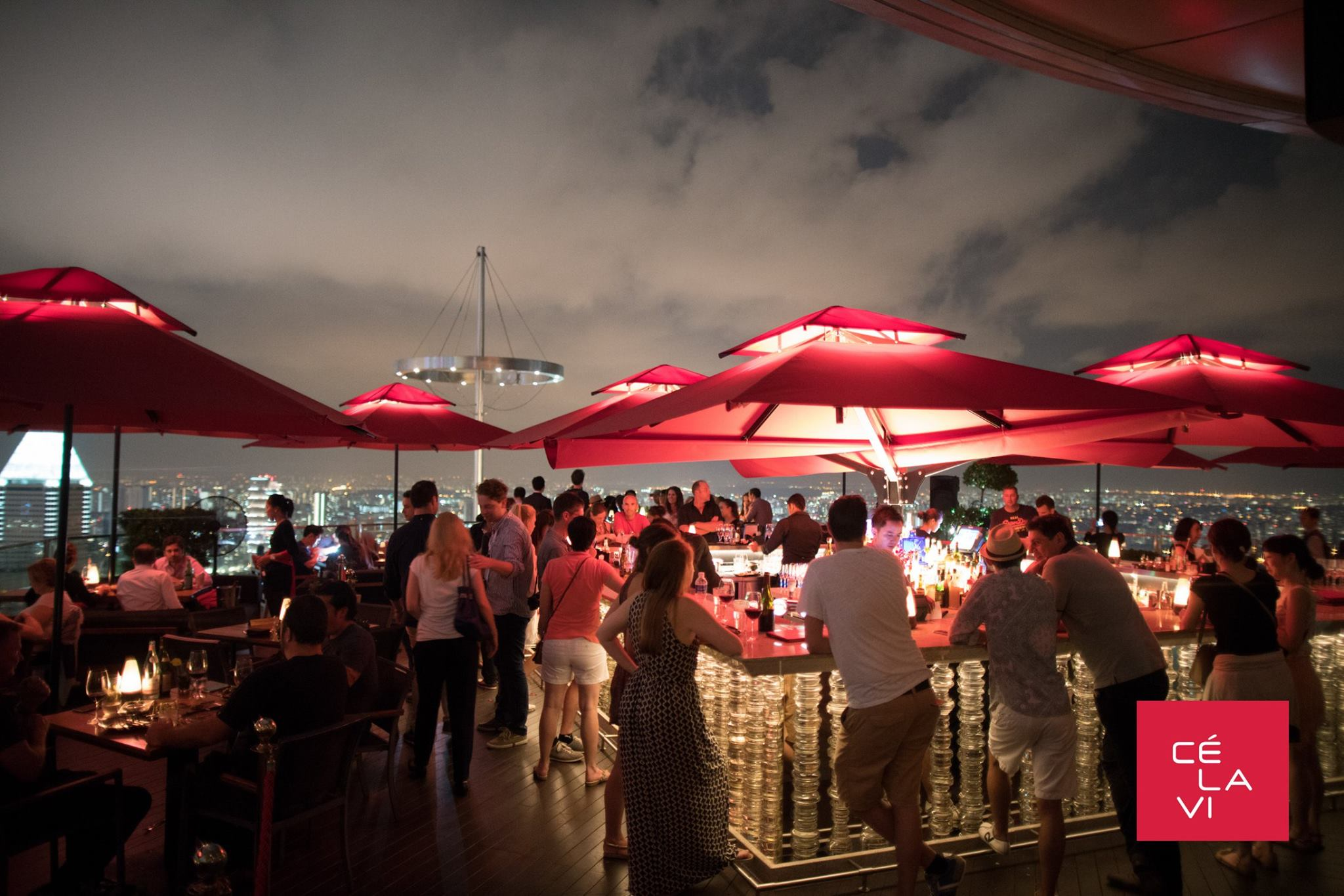 C 201 La Vi Singapore Rooftop Club On Marina Bay Sands Hotel